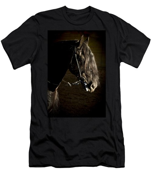Men's T-Shirt (Slim Fit) featuring the photograph Ebony Beauty D6951 by Wes and Dotty Weber
