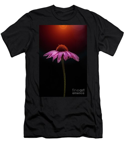 Men's T-Shirt (Athletic Fit) featuring the photograph Echinacea And Sun by Scott Kemper