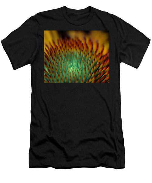 Echinacea Macro Men's T-Shirt (Athletic Fit)