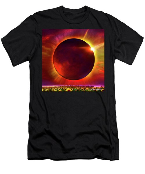 Eclipse Of The Sunflower Men's T-Shirt (Athletic Fit)