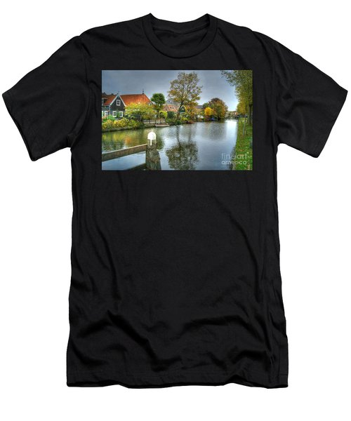 Edam Waterway In Holland Men's T-Shirt (Athletic Fit)