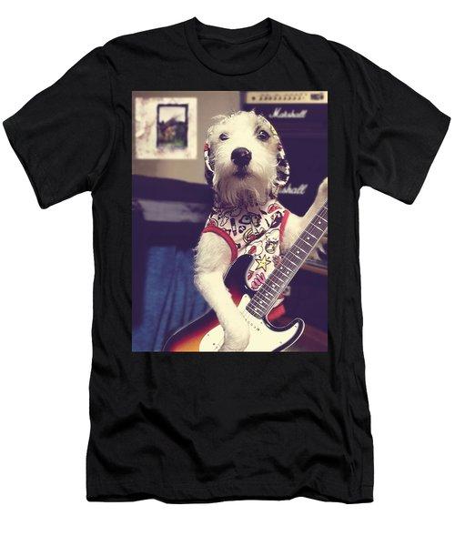 Eddie Plays Guitar Men's T-Shirt (Athletic Fit)