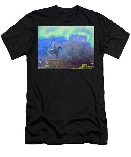 Edinburgh Castle Horse Statue Men's T-Shirt (Athletic Fit)