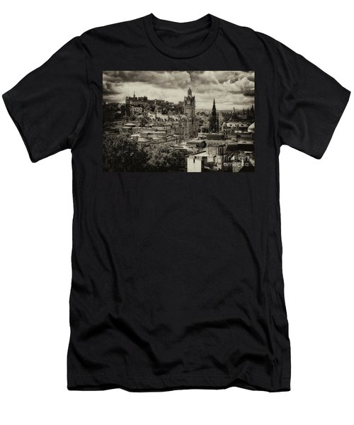 Men's T-Shirt (Athletic Fit) featuring the photograph Edinburgh In Scotland by Jeremy Lavender Photography