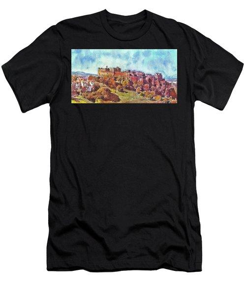Edinburgh Skyline No 1 Men's T-Shirt (Athletic Fit)