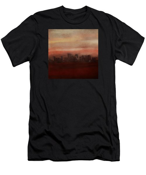 Edmonton At Sunset Men's T-Shirt (Athletic Fit)