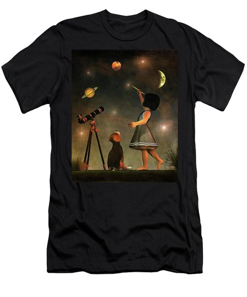 Educating Astronomy Men's T-Shirt (Athletic Fit)