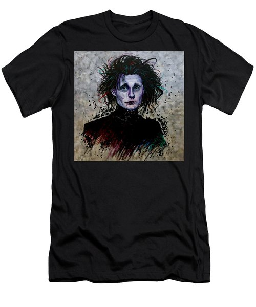 Men's T-Shirt (Athletic Fit) featuring the painting Edward by Joel Tesch