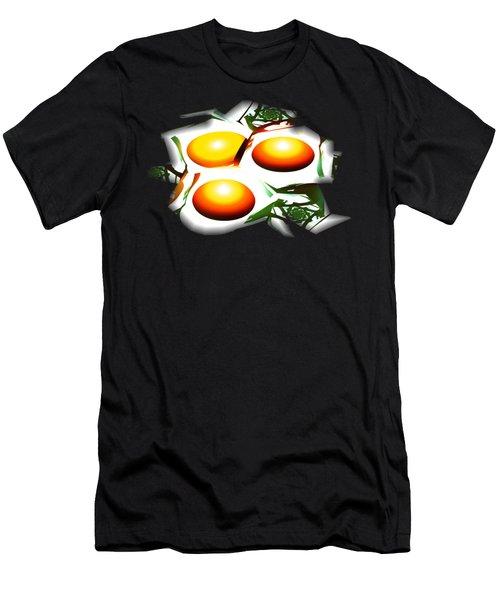 Eggs For Breakfast Men's T-Shirt (Slim Fit) by Anastasiya Malakhova