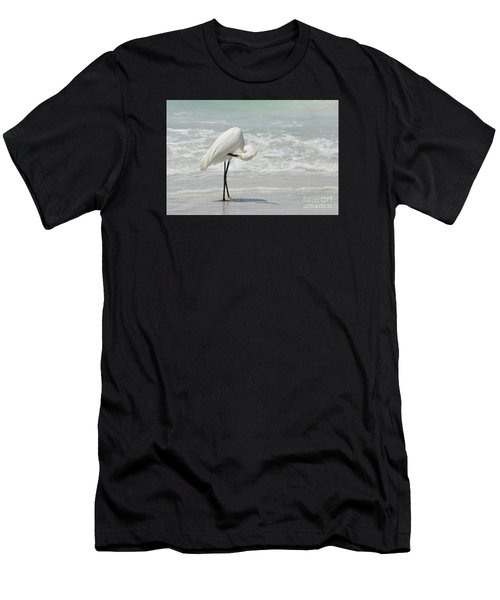 Egret Preening 6278 Men's T-Shirt (Athletic Fit)