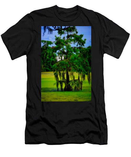 Egret Tree Men's T-Shirt (Athletic Fit)