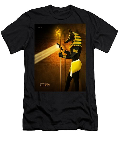 Egyptian God Anubis Men's T-Shirt (Athletic Fit)