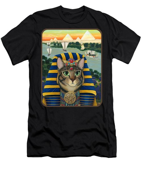 Egyptian Pharaoh Cat - King Of Pentacles Men's T-Shirt (Athletic Fit)