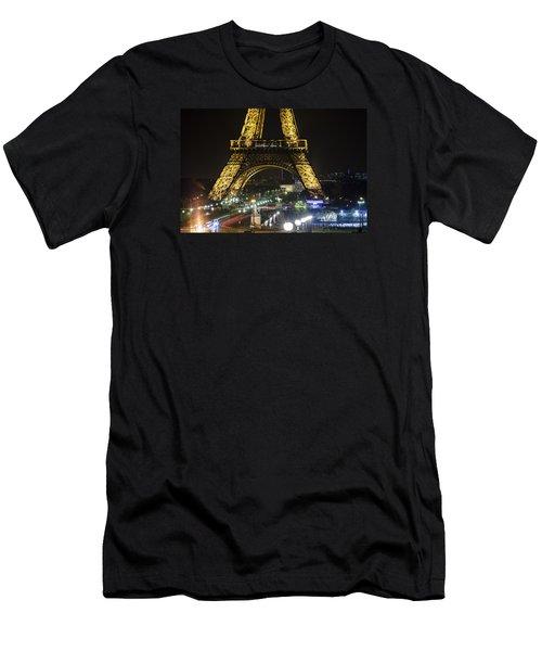 Eiffel Tower Men's T-Shirt (Slim Fit) by Andrew Soundarajan