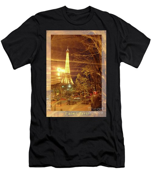 Eiffel Tower By Bus Tour Greeting Card Poster Men's T-Shirt (Athletic Fit)