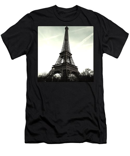 Eiffel Tower, Greyscale Men's T-Shirt (Athletic Fit)