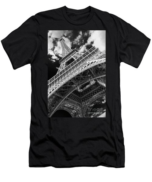 Eiffel Tower Infrared Abstract Men's T-Shirt (Athletic Fit)