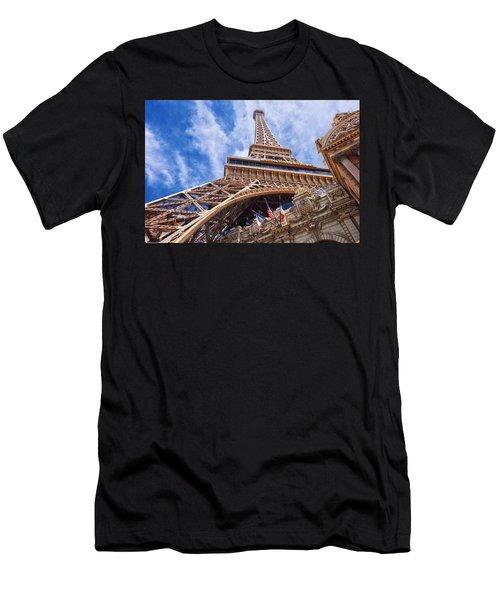Men's T-Shirt (Athletic Fit) featuring the photograph Eiffel Tower Las Vegas  by Ricardo J Ruiz de Porras