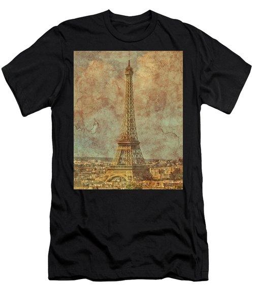 Paris, France - Eiffel Tower Men's T-Shirt (Athletic Fit)