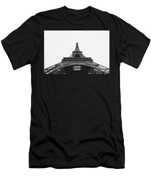 Men's T-Shirt (Slim Fit) featuring the photograph Eiffel Tower Perspective  by MGL Meiklejohn Graphics Licensing