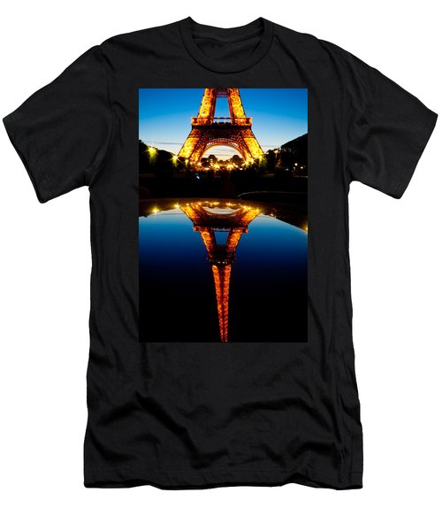 Eiffel Tower Reflection Men's T-Shirt (Athletic Fit)