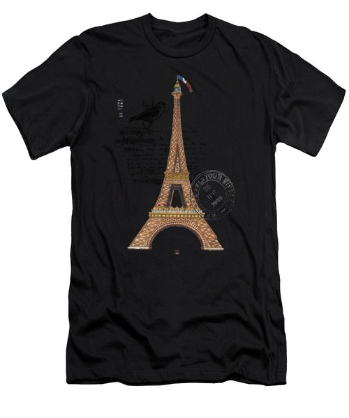 Eiffel Tower T Shirt Design Men's T-Shirt (Athletic Fit)