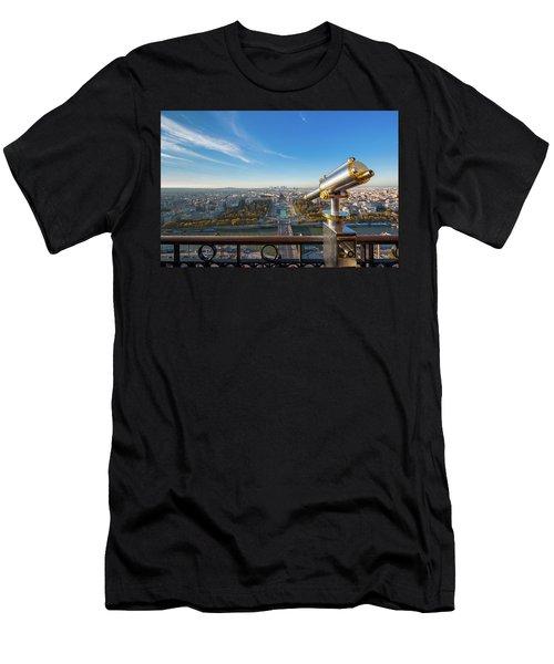 Eiffel Tower Telescope Men's T-Shirt (Athletic Fit)