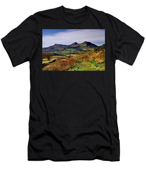 Eildon Hills Borders Scotland Men's T-Shirt (Athletic Fit)