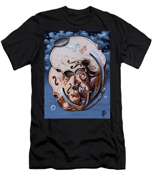 Einstein's Violin. Op.2763 Men's T-Shirt (Athletic Fit)