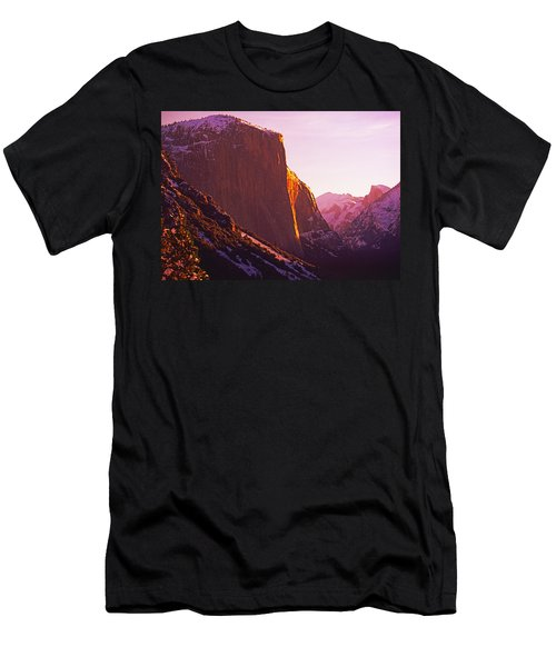 El Capitan And Half Dome, Yosemite N.p. Men's T-Shirt (Athletic Fit)