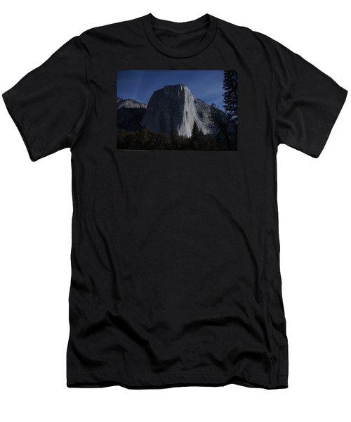 El Capitan In Moonlight Men's T-Shirt (Slim Fit) by Michael Courtney