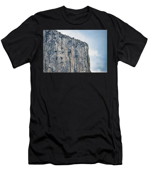 El Capitan Up Close And Personal From Tunnel View Yosemite Np Men's T-Shirt (Athletic Fit)