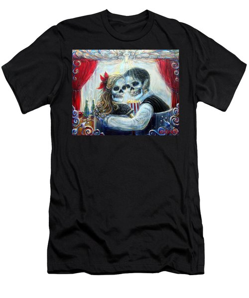 Men's T-Shirt (Slim Fit) featuring the painting El Cine by Heather Calderon