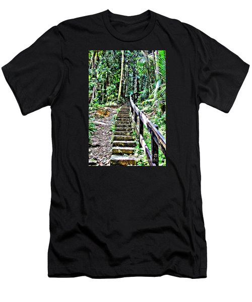 El Yunque Stairway Men's T-Shirt (Athletic Fit)