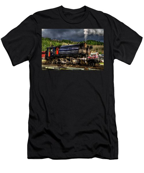 Elbe Steam Engine 17 Hdr 2  Men's T-Shirt (Athletic Fit)