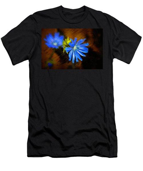 Electric Blue Men's T-Shirt (Slim Fit)