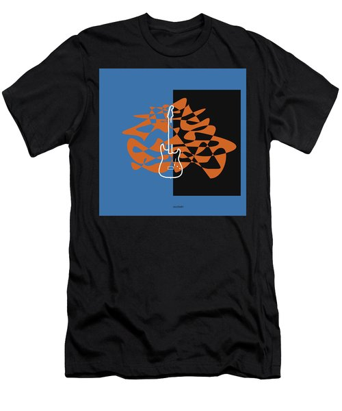 Electric Guitar In Blue Men's T-Shirt (Athletic Fit)