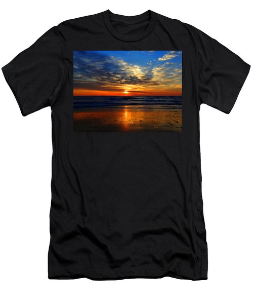 Electric Golden Ocean Sunrise Men's T-Shirt (Athletic Fit)