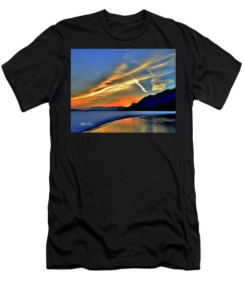 Electric Sunrise Men's T-Shirt (Athletic Fit)