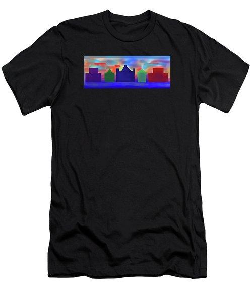 Electric Sunrise Men's T-Shirt (Athletic Fit)