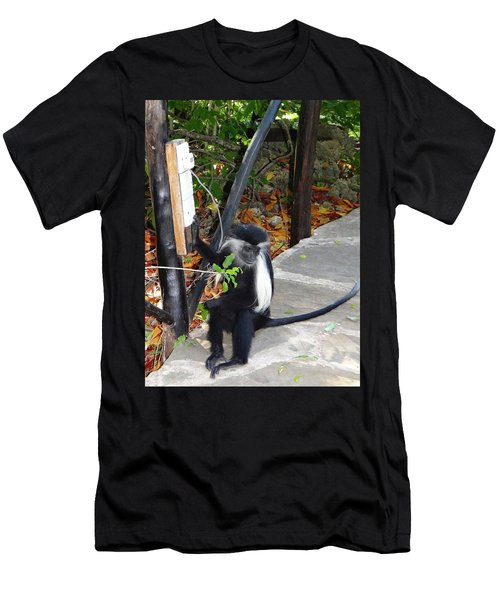 Electrical Work - Monkey Power Men's T-Shirt (Athletic Fit)
