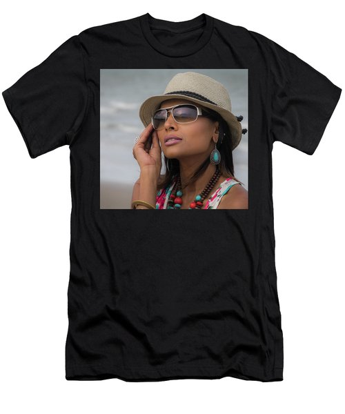 Elegant Beach Fashion Men's T-Shirt (Athletic Fit)