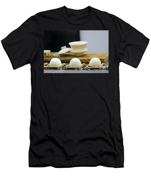Elegant Chinese Tea Set Men's T-Shirt (Slim Fit)