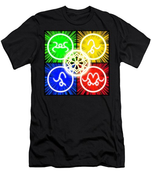 Men's T-Shirt (Athletic Fit) featuring the digital art Elements Of Consciousness by Shawn Dall