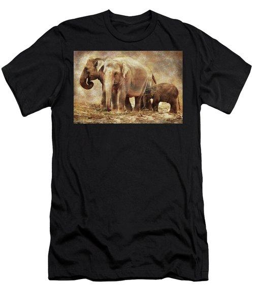 Elephant Family Men's T-Shirt (Athletic Fit)