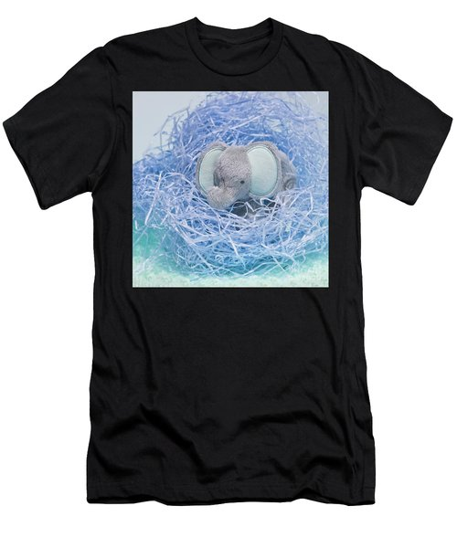 Elephant For Charity Blue Men's T-Shirt (Athletic Fit)