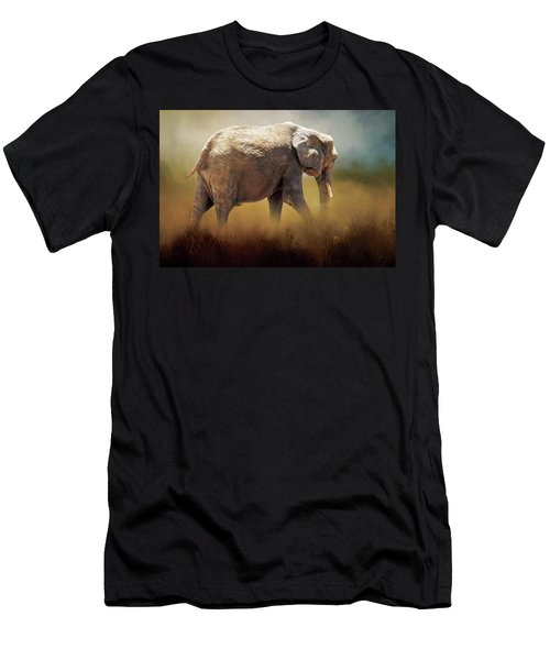 Elephant In The Mist Men's T-Shirt (Athletic Fit)