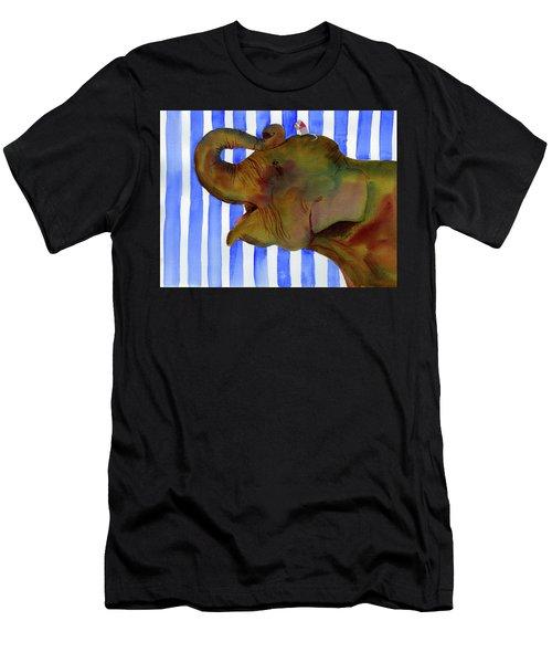 Elephant Joy Men's T-Shirt (Athletic Fit)