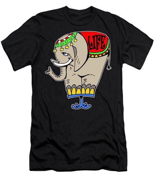 Elephant Life  Men's T-Shirt (Athletic Fit)
