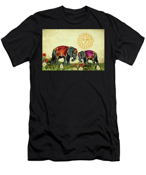 Elephant Love Men's T-Shirt (Athletic Fit)